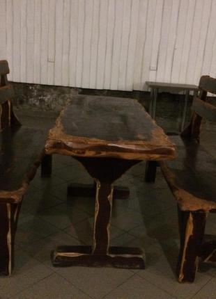 Мебель садовая стол лавки из дерева скамейка для дома бани сауны