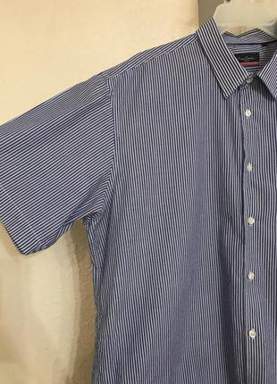 Рубашка летняя короткий рукав фирменная pierre cardin