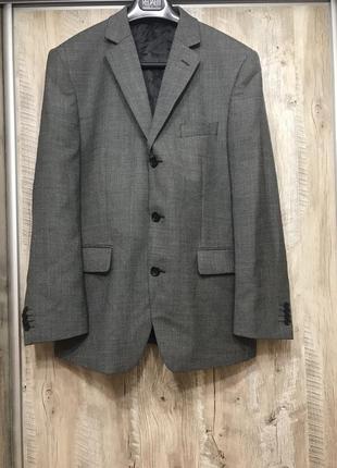 Пиджак шерсть германия италия бренд christian berg l-xl