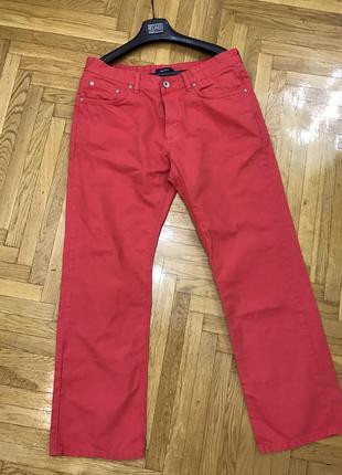 Брюки штаны яркие фирменные стильные gant w34/l30 m-l