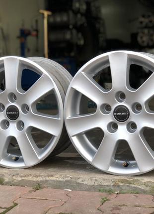 Легкосплавные диски Borbet на VW. R 15. 5*112.