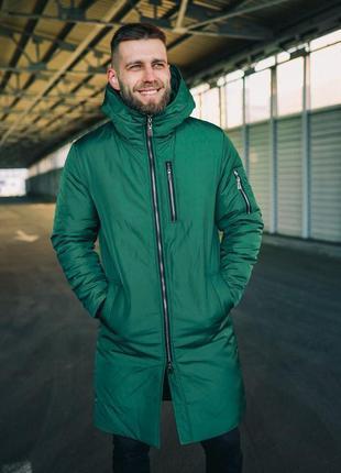 Куртка зимняя удлиненная мужская