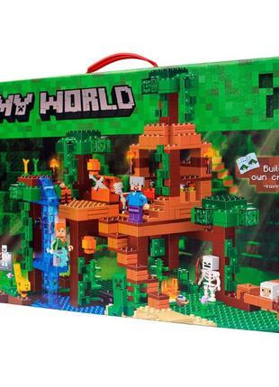 Конструктор Майнкрафт Minecraft Домик на дереве в джунглях, ле...