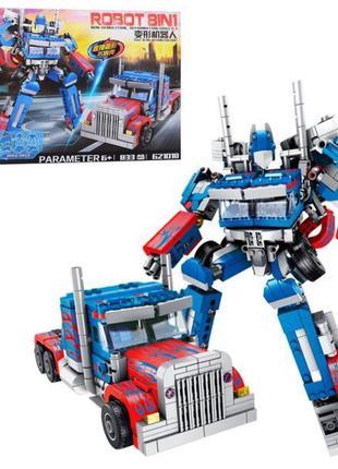 Конструктор 621018 Робот-трансформер 8 в 1 Оптимус Прайм 833 д...