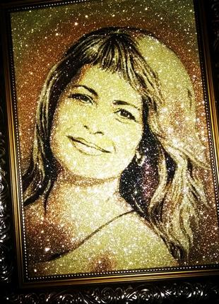 Портреты на заказ в золотом стиле