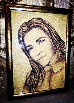 Портрет на заказ в золотом стиле