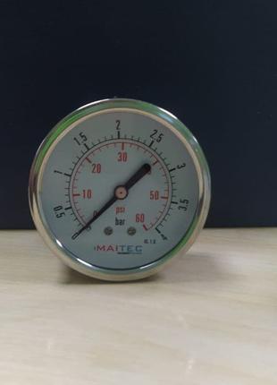 Манометр, манометр 63 мм, осьової 63 мм, манометр гліцериновий