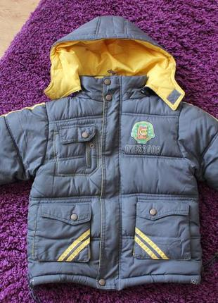 Куртка термо теплая парка зимняя зима фирменная  3 года 98 104