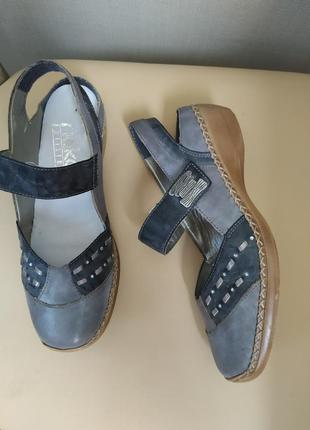 36 p. rieker мягкие босоножки туфли сабо