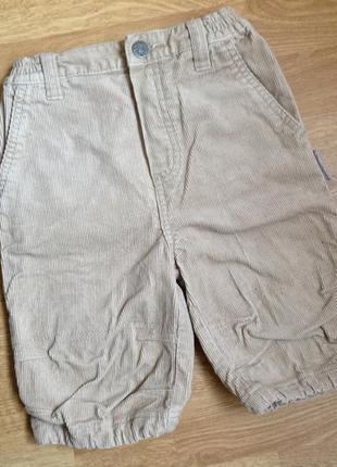 Вельветовые шорты капри бриджи теплые в сад садик мальчику два...