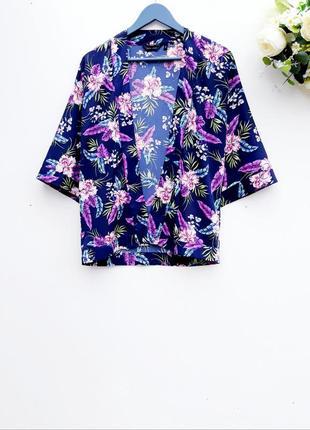 Шикарная накидка кимоно в цветочный принт
