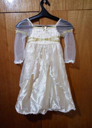 Детское платье золотое / шампань 3 - 4 года