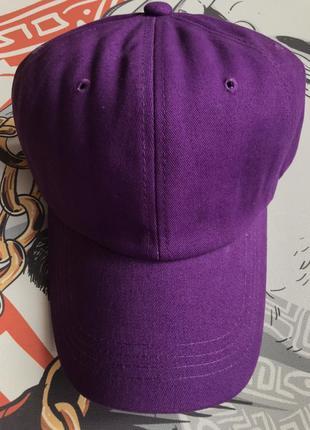 Кепка бейсболка фиолетовая яркая плотная распродажа