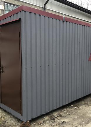 Модульная раздевалка для спортсменов 6*2,4м