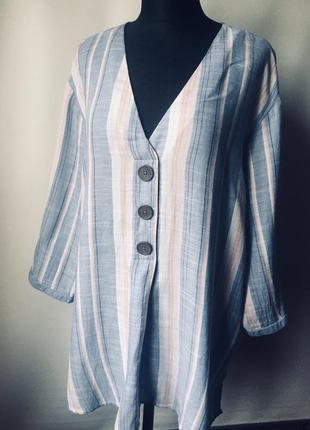 Элегантная рубашка -туника большого размера