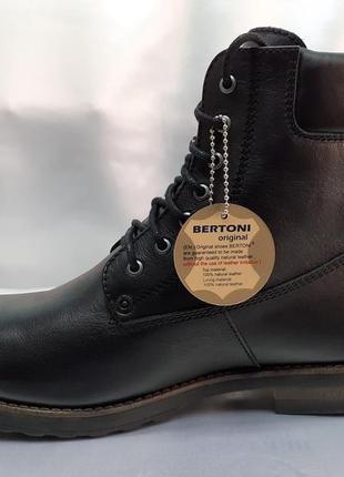 Распродажа!зимние кожаные сапоги-берцы bertoni