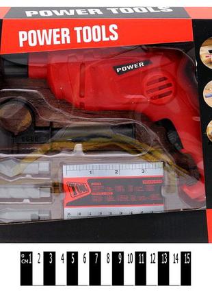 """Дрель-шуруповерт """"Power Tools"""".Набор инструментов для мальчика"""