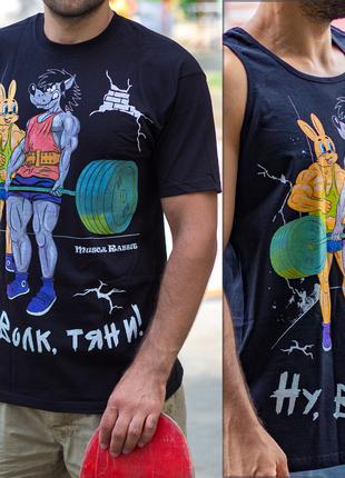 Мужская футболка с принтом бодибилдинг спорт