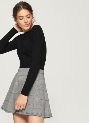 Новая однотонная длинная облегающая черная кофта свитер джемпе...