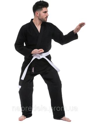 Кимоно для джиу джитсу черное HARD TOUCH JJS.Размер от 140 до 180