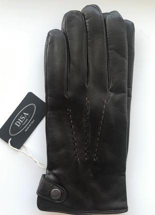 Перчатки кожаные мужские Итальянские зимние