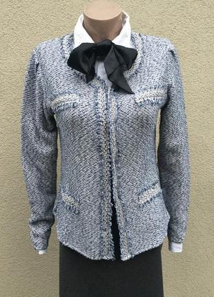 Трикотаж жакет,пиджак,кардиган,кофта,стиль шанель,оригинал,mon...