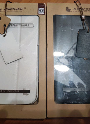 "Чехол-книжка JISONCASE Samsung Galaxy Tab 3 7""-черн/белый"