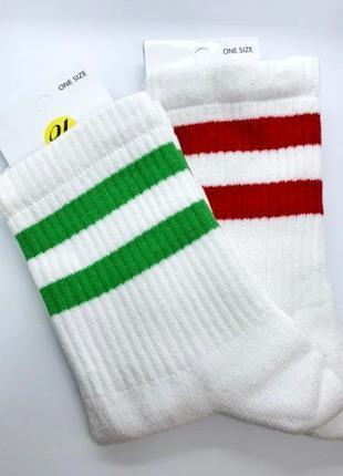 Высокие носки / высокие носки в полоску / высокие носки с поло...
