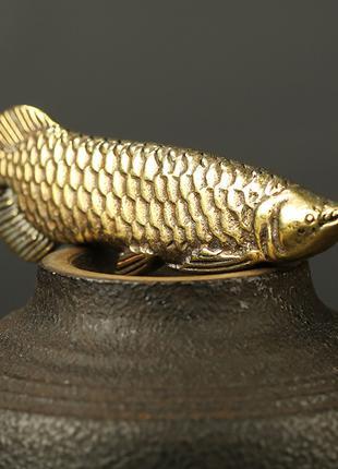 Брелок «Рыбка Карп», художественное литье из бронзы.