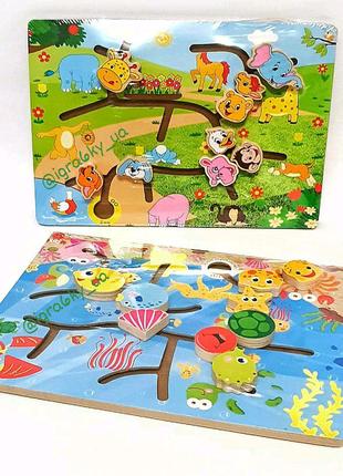 Развивающая игрушка, деревянная игрушка, деревянный лабиринт