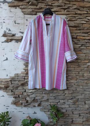 Стильная 💯% котоновая рубашка 👕 туника большого размера