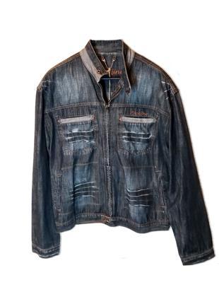 Джинсова куртка бавовна синій розмір XL