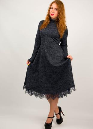 Платье женское из ангоры с длинным рукавом от бренда Adele Leroy.