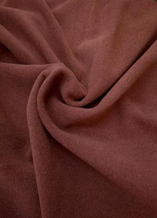 Шикарная терракотовая пальтовая ткань, турция