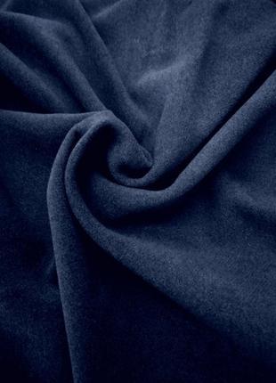 Шикарная темно синяя пальтовая ткань, турция