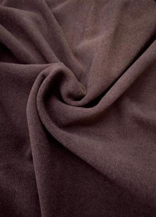 Шикарная пальтовая ткань темно шоколадного цвета, турция