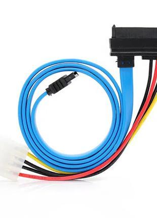 29-Pin SATA to 4-Pin IDE + 7-Pin SATA Power Adapter Cable (69cm)