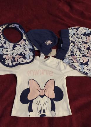Новый Комплект Disney Minnie Набор Польша 68/74 Мышка Микки костю