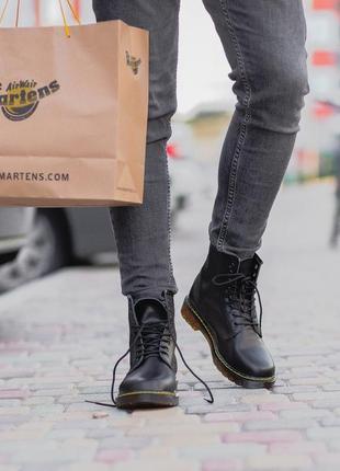 💎dr. martens 1460 black💎 мужские демисезонные кожаные ботинки\...