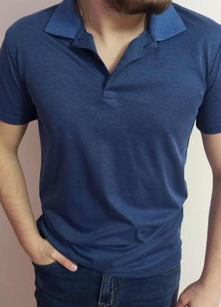 Мужская футболка поло жакард