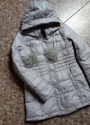 Пальто пух +перо зима
