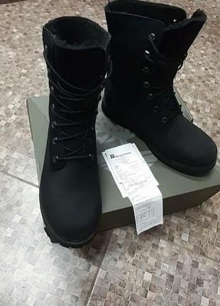 Ботинки зима нубук