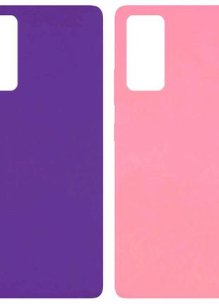 Силиконовые чехлы с микрофиброй для Samsung Galaxy S20 FE