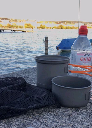 Туристический набор посуды з радиатором Алюмінієвий набір посуди