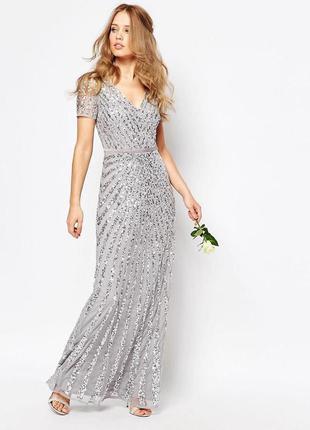 Cеребряное платье 50 размер