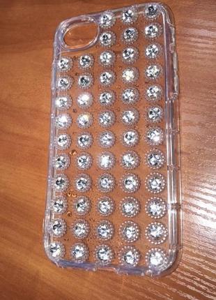 Чехол бампер iphone 7,8 в стразах