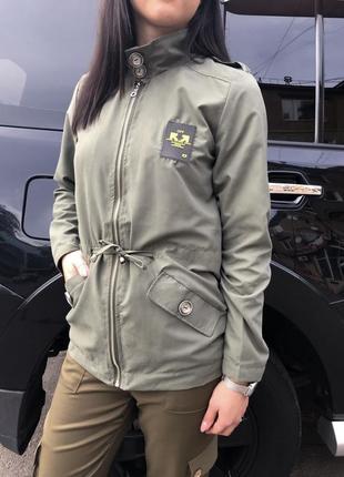Куртка ветровка женская (цвет хаки)
