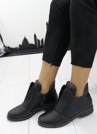Новые женские осенние черные ботинки