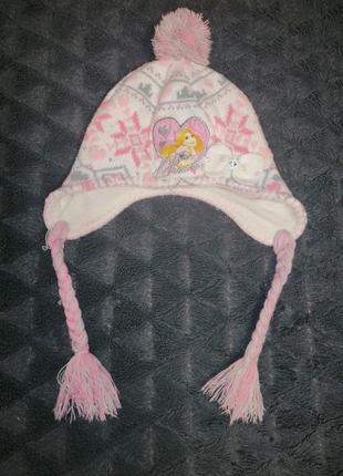 Тёплая шапочка на 3-4 года