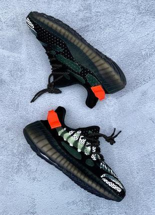 Кросівки adidas yeezy boost 350 v3 black orange кроссовки крос...